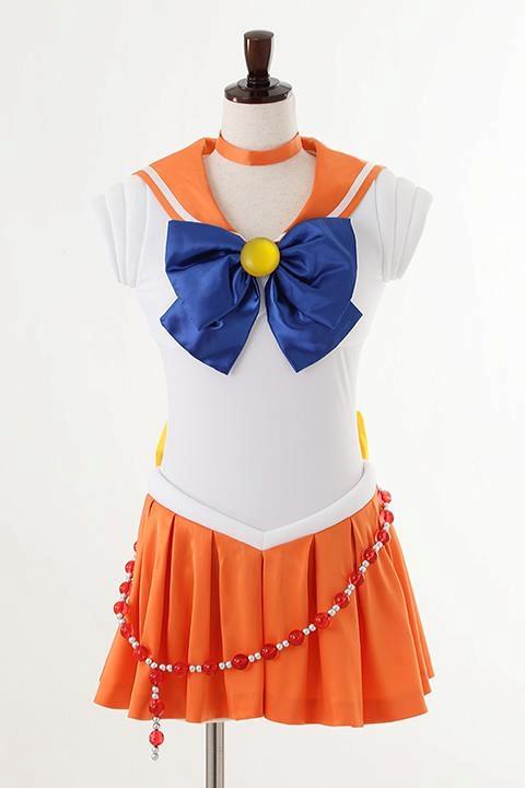 美少女戦士セーラームーン Crystal オフィシャルコスチューム セーラーヴィーナス コスプレ衣装-higashi2055