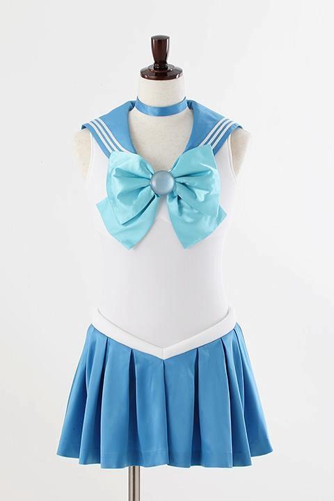 美少女戦士セーラームーンCrystal オフィシャルコスチューム セーラーマーキュリー コスプレ衣装-higashi2058