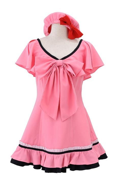 劇場版マクロスF ランカの私服/ピンクワンピース コスプレ衣装-higashi2092