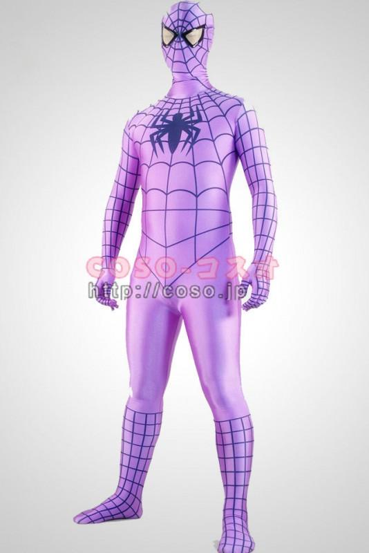 紫 ライクラ スパンデックス 全身タイツ―1taitsu0015