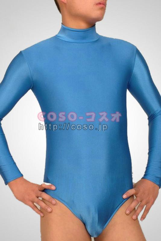 透明人間 ブルー ライクラ 半身 ボディースーツ 全身タイツ―2taitsu0001