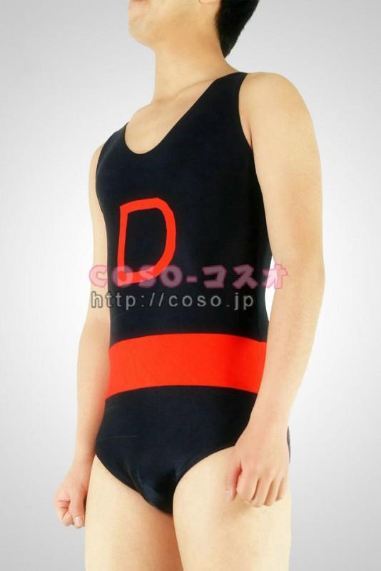 透明人間 ブッラクとレッド Dレター 体操服 全身タイツ―2taitsu0019