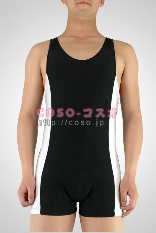 透明人間 ブッラクとホワイト ライクラ 袖なし 体操服 ―2taitsu0021