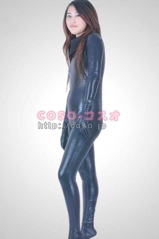 透明人間 蛇柄 ライクラ 全身タイツ 背中ファスナー付き―3taitsu0037