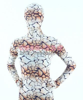 透明人間 ライクラ製 花柄 岩を裂く 衣装 コスプレ用 全身タイツ―3taitsu0056