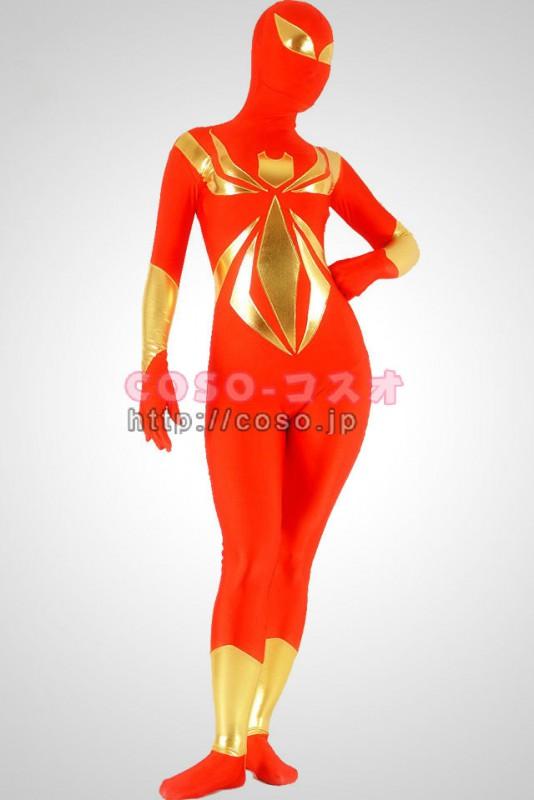 透明人間 レッド ライクラ スパイダーマン ゼンタイ衣装―3taitsu0120