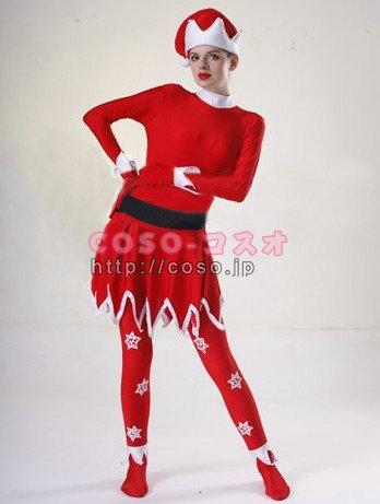 通販 人気版!欧米皇室風 クリスマスサンタコスチューム 雪柄 ―3taitsu0148