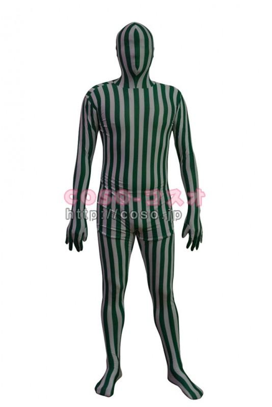 通販 緑&白縦縞柄 新作 ハッピーメイカー ライクラスパンデックス―3taitsu0183