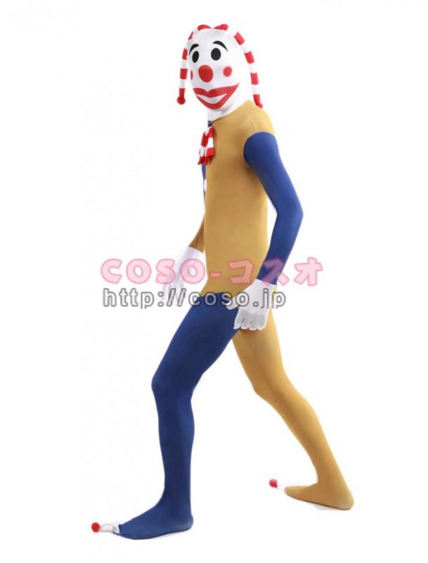 ピエロ おどけ者 舞台役者 お笑い ライクラスパンデックス ゼンタイコスチューム―3taitsu0191 1