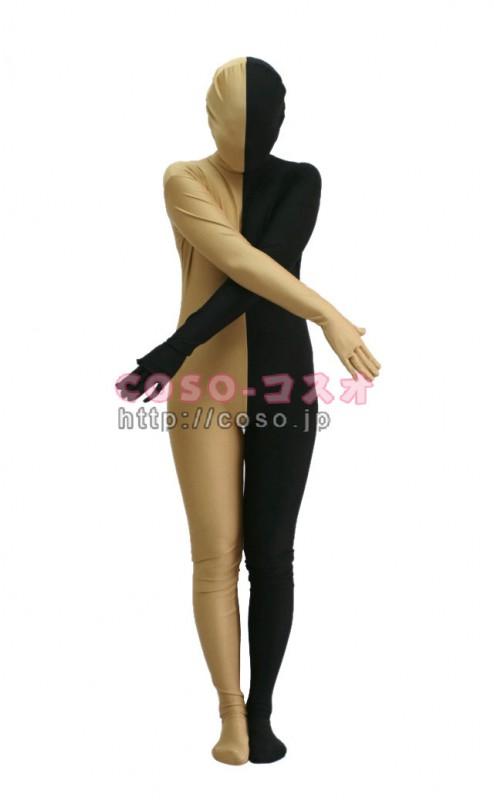 パッチワーク マジックマン ブラック&シャンパー ライクラ&スパンデックス―3taitsu0205