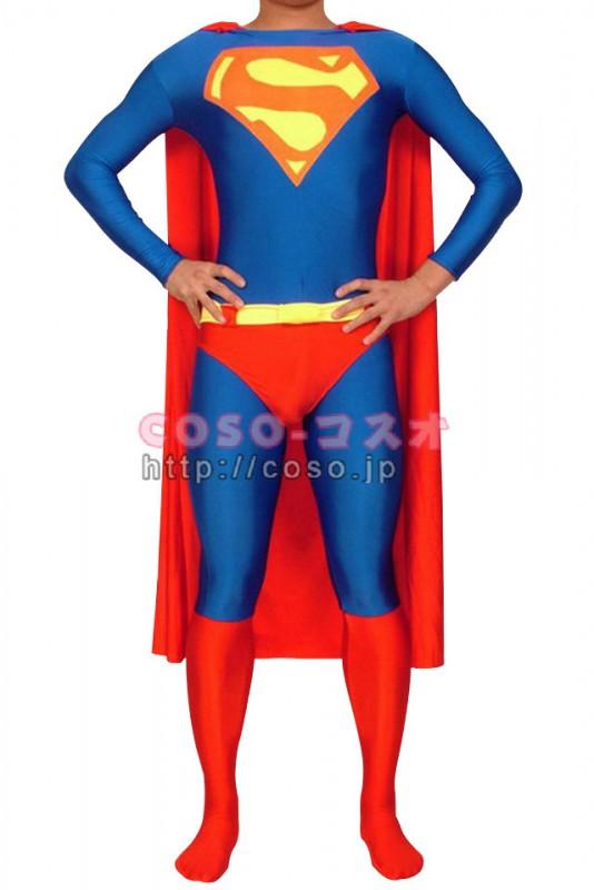スーパーマン ライクラ&スパンデックス スーパーマンコスチューム 全身タイツ―8taitsu0001