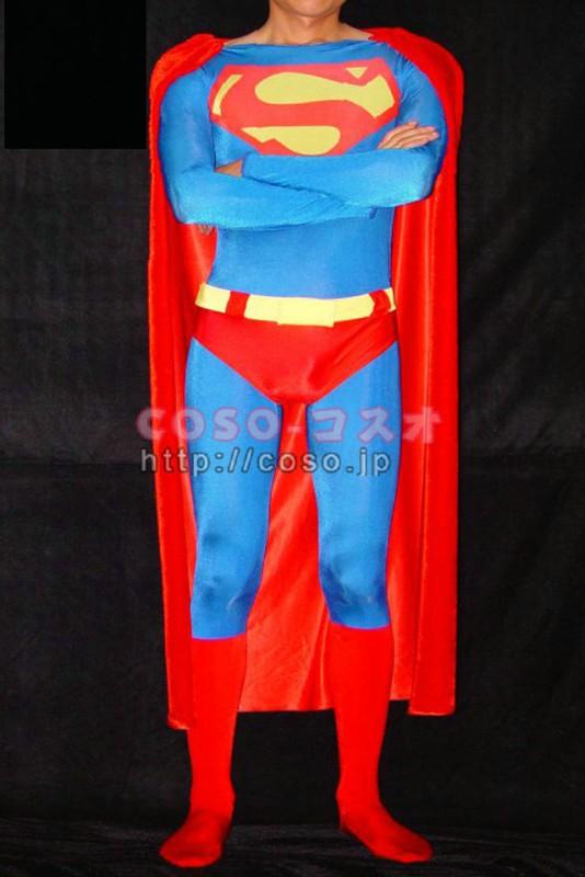 スパンデックス スーパーマンコスチューム Superman 全身タイツ―8taitsu0003