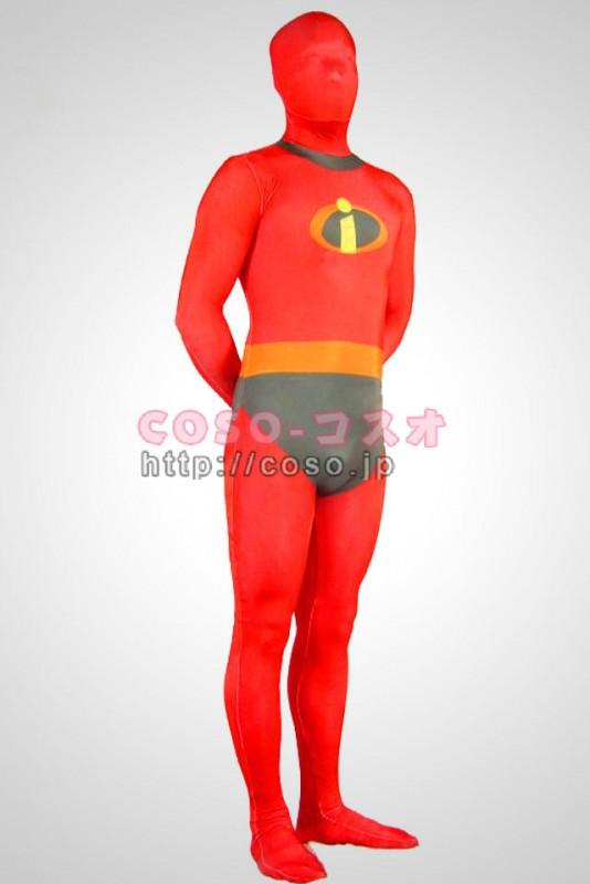 スーパーマン レッド ライクラ Mr.インクレディブル 背中ファスナー―8taitsu0005