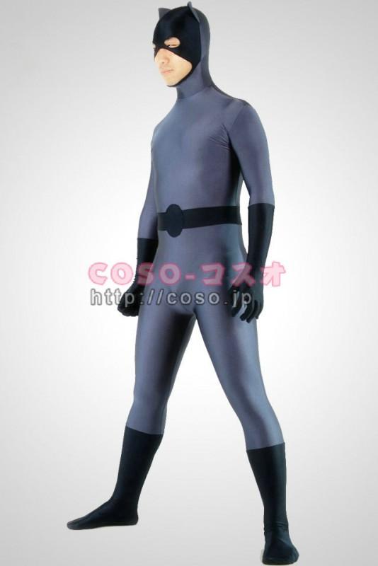 スーパーマン グレーと黒 ライクラ バットマン コスプレ用―8taitsu0010 1