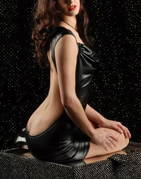 後ろヌードドレス 女王様 レディー セクシーメタリック―9taitsu0047