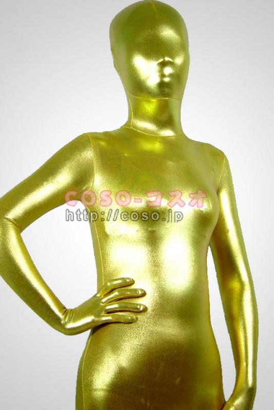 ゴールデン メタリック 透明人間 全身タイツ―6taitsu0006