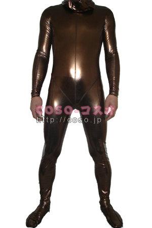 茶色 全身タイツ メタリック コスプレ用 変装パーティ―6taitsu0114