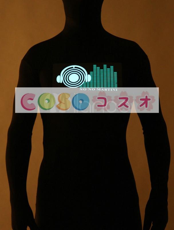 全身タイツ,コスプレ 光を出す ブラック 大人用 ユニセックス 蛍光 ―taitsu-tights1409