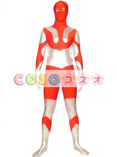 全身タイツ カラーブロック 男性用 大人用 目が開いている―taitsu-tights0234