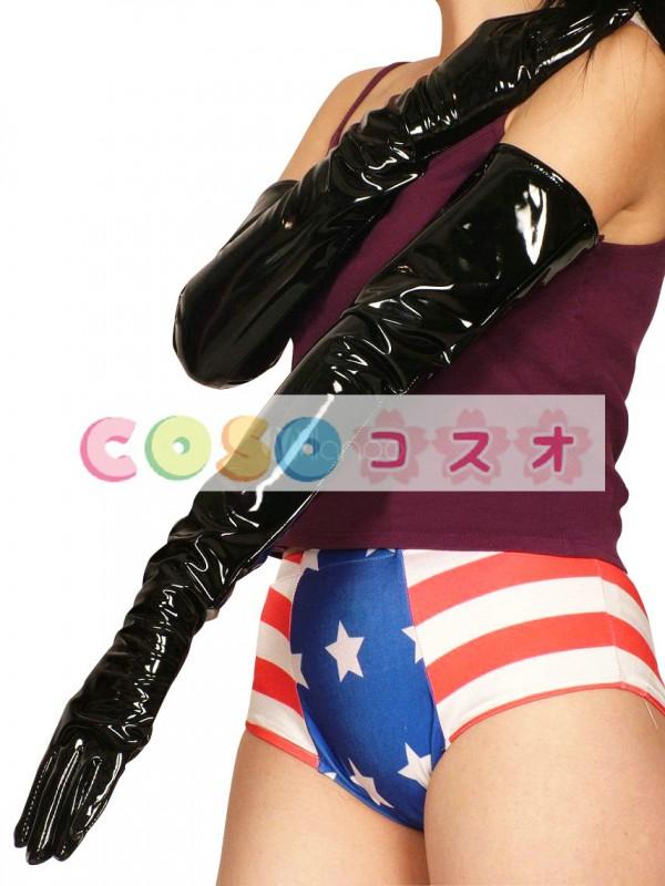 全身タイツアクセサリー 手袋 メタリック コスチューム 仮装パーティー―taitsu-tights0390