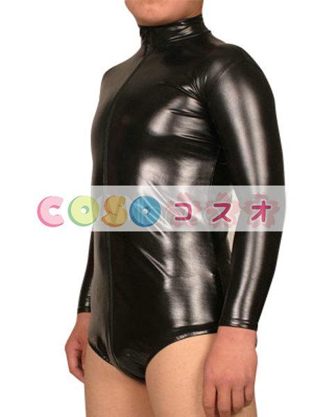 コスチューム衣装 ブラック レオタード風 メタリック コスプレ―taitsu-tights0429