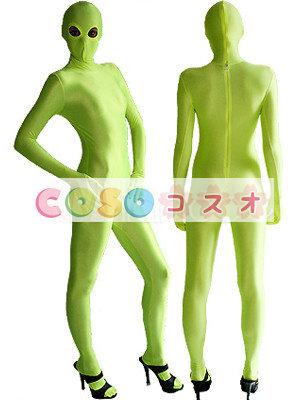 目出しキャットスーツ(ライトグリーン)―taitsu-tights0448