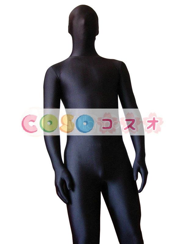 全身タイツ ブラック ユニセックス 大人用 ボディスーツ ライクラ・スパンデックス ジャンプスーツ フルボディ ―taitsu-tights0016