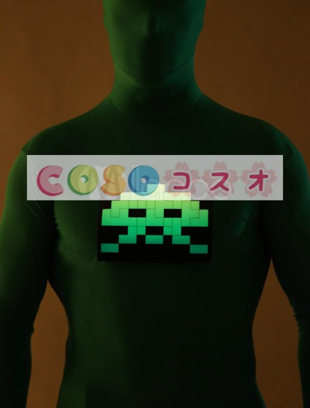 全身タイツ,グリーン 光を出す コスチューム 大人用 ユニセックス 蛍光 ―taitsu-tights0622