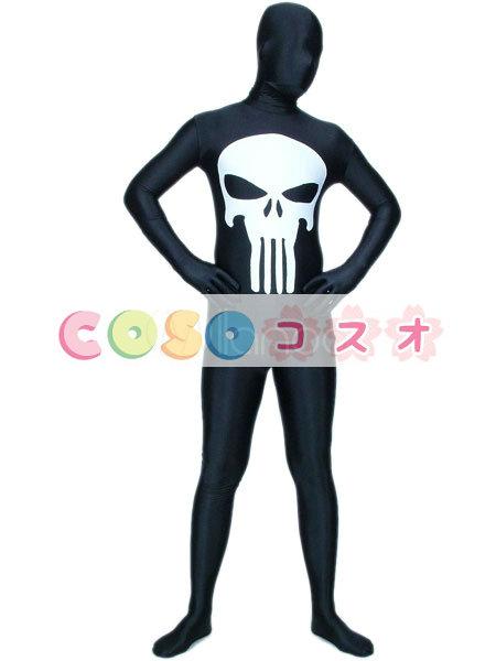全身タイツ,ブラック カラーブロック ユニセックス 大人用 開口部のない全身タイツ 仮装コスチューム―taitsu-tights1048
