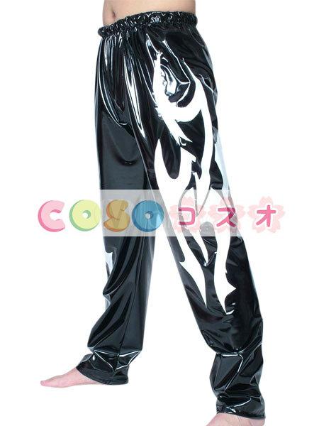 全身タイツ レスリング PVC ズボン ブラック 男性用 大人用 コスチューム パンツ―taitsu-tights1140