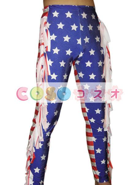 全身タイツ キャットスーツ アメリカの国旗柄 ズボン ユニセックス 大人用 コスチューム レスリング―taitsu-tights1160