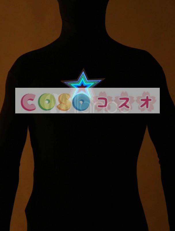 全身タイツ,星 コスチューム 光を出す ブラック 大人用 ユニセックス 蛍光 ―taitsu-tights1264