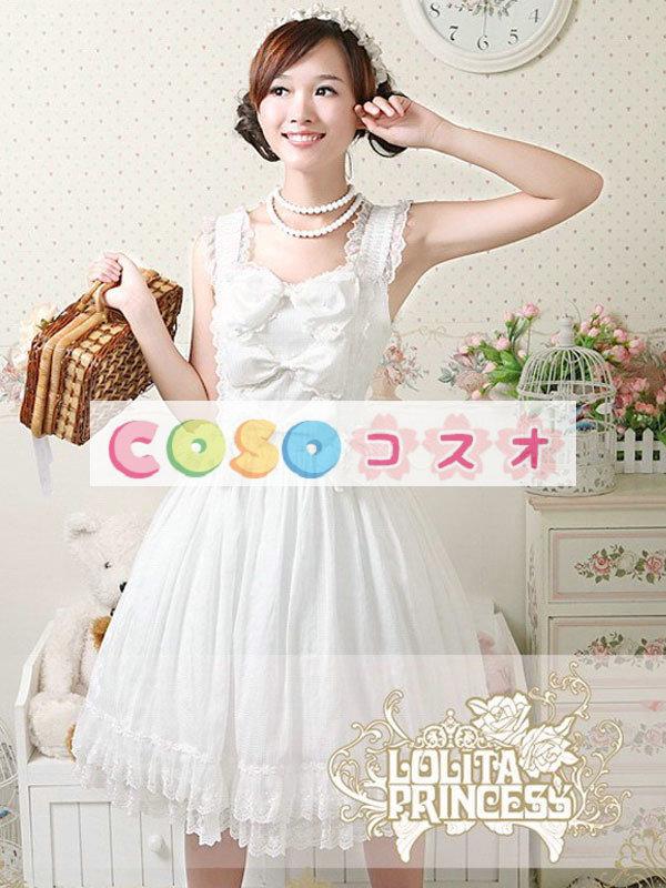 女性のための白弓シフォン カントリーロリータ ドレス ―Lolita0740