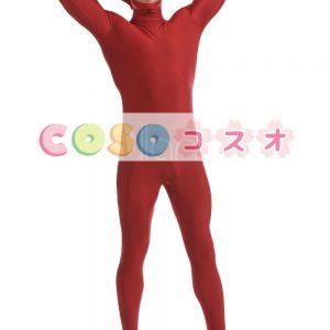 暗い赤ユニセックス ライクラ スパンデックス全身タイツ スーツ―taitsu-tights0825