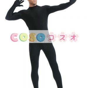 全身タイツ ブラック ライクラ・スパンデックス 大人用 ―taitsu-tights0865