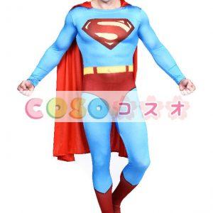 全身タイツ ブルー 大人用 ユニセックス スーパーマン ―taitsu-tights1166