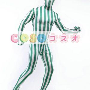 白緑ライクラ スパンデックス ユニセックス ストライプ タイツ―taitsu-tights1319
