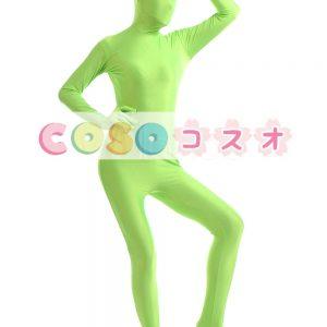 全身タイツ ライクラ・スパンデックス 大人用 グリーン ―taitsu-tights1478