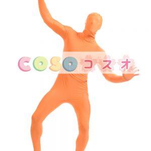 全身タイツ オレンジ色 ライクラ・スパンデックス 大人用 ―taitsu-tights1491