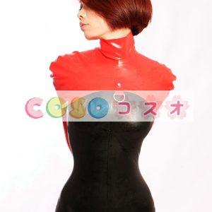 全身タイツ,ブラック&レッド ユニセックス 大人用 コスチューム 仮装―taitsu-tights0062