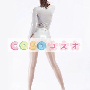 ラテックスキャットスーツ,グレー セクシー レオタード 変装コスチューム―taitsu-tights0065