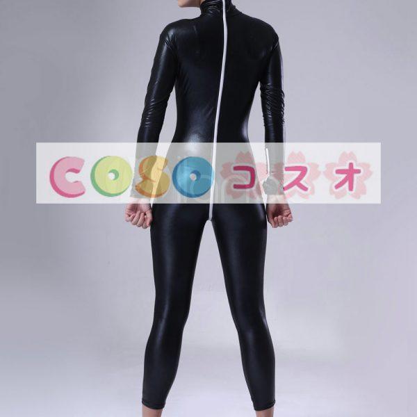 全身タイツ ブラック メタリック コスチューム 仮装パーティー―taitsu-tights0195 1