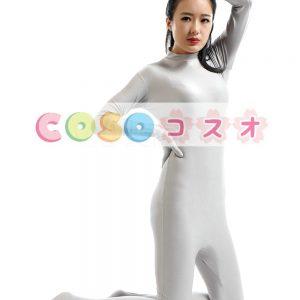 全身タイツ ライクラ・スパンデックス 大人用 グレー ―taitsu-tights0241