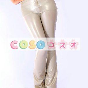 レギンス,コスチューム衣装 コスプレ グレー ラテックス 大人用 仮装―taitsu-tights0302
