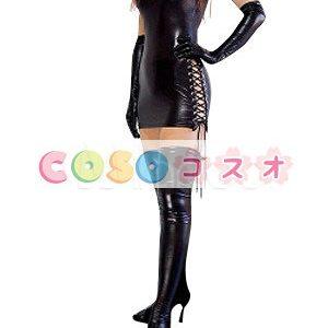 コスチューム衣装 メタリック セクシー オーダーメイド可能 ブラック ―taitsu-tights0411