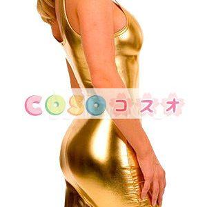 コスプレ衣装 メタリック オーダーメイド可能 ゴールド ―taitsu-tights0782