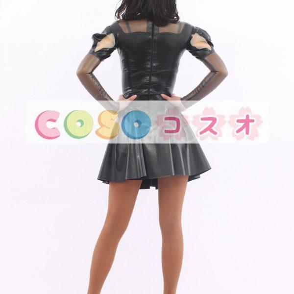 コスチューム衣装 ワンピース ラテックス ブラック 大人用 女性用  人気―taitsu-tights0061 1