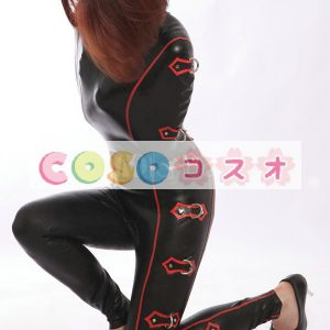 ラテックスキャットスーツ,ブラック セクシー コスチューム ユニセックス 大人用―taitsu-tights0063