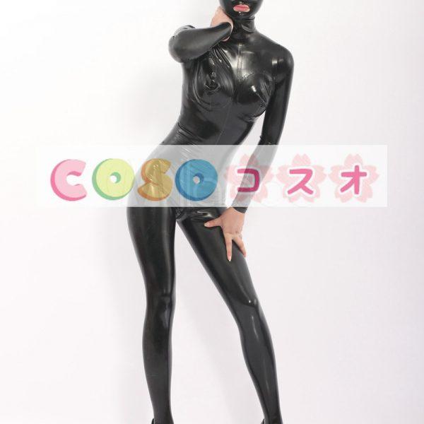 コスチューム衣装 全身タイツ メタリック ブラック レオタード 大人用 女性用 ―taitsu-tights0119 1