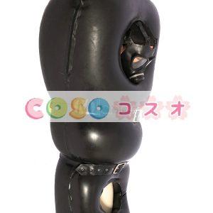 全身タイツ 大人用 ブラック マスク含まれず ジャンプスーツ ラテックス ユニセックス―taitsu-tights0120
